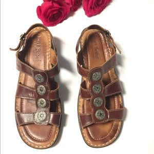 Josef Seibel Women's Leather Comfort Sandals